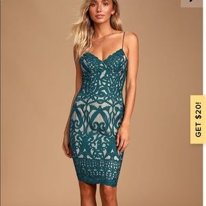 Stunning Green Lace Cocktail Dress